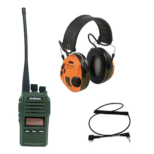 Shinwa radio + Peltor SportTac Hörselskydd