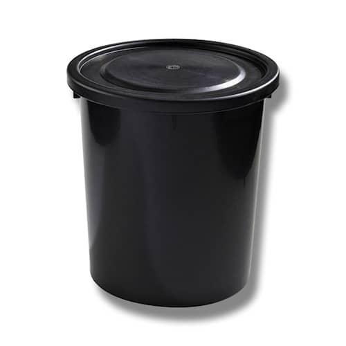 Tynnyri muovia musta kannella 35 l