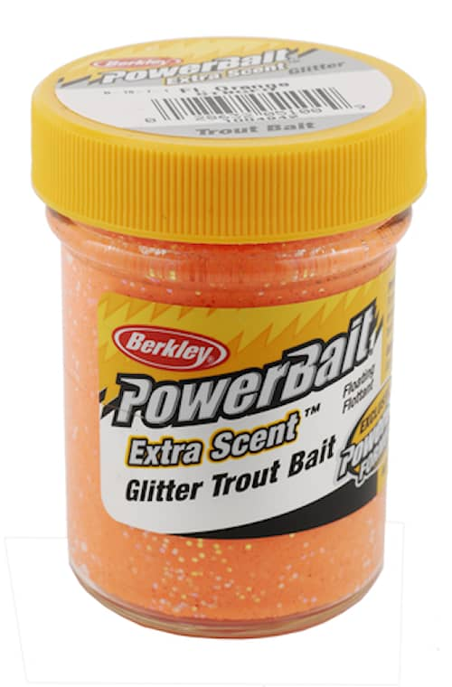 Berkley Powerbait extra scent glitter Fl orange