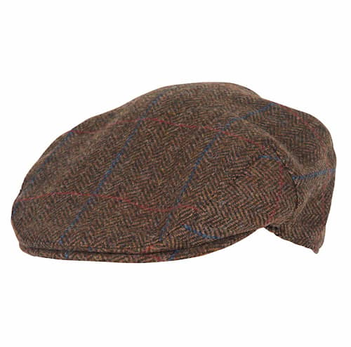 Barbour Crieff Cap Brown/Red/Blue