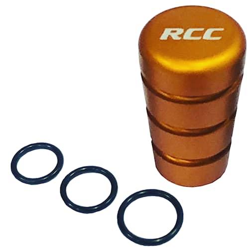 RCC Päätynuppi oranssi kierre: M6