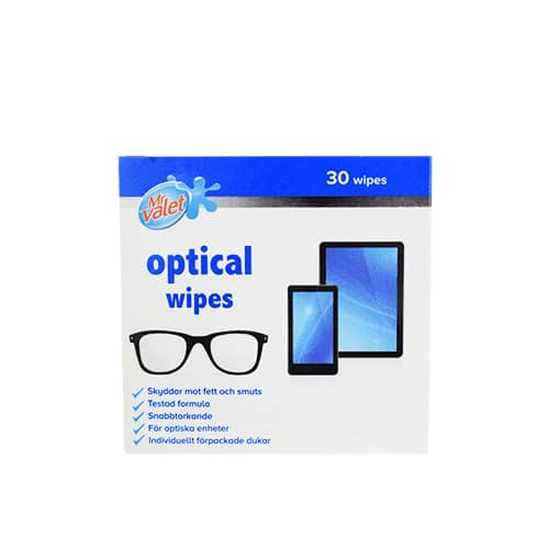 Mr Valet Optical Wipes 30-pack
