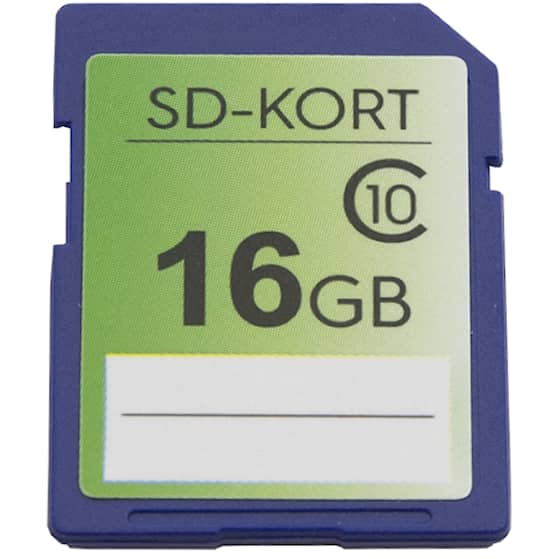 SD-kort 16 GB Minneskort