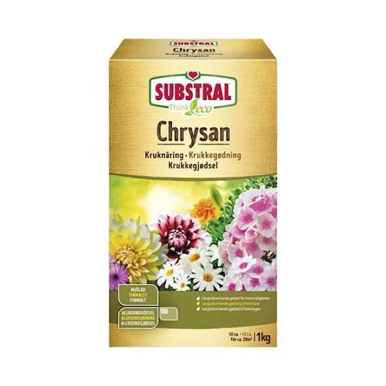 Substral Chrysan trädgårdsgödsel mjölad 1 kg