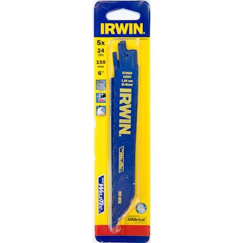 Puukkosahanterä 624r Irwin 24tpi metalli 150 mm 5 kpl