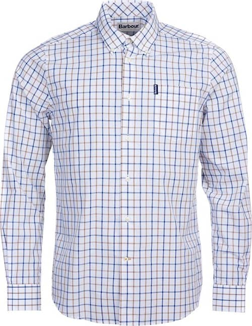 Barbour Tattersall 13 Tailored Fit Shirt, Sandstone