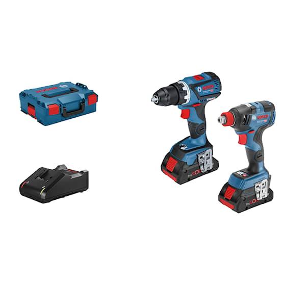 Bosch 18V GSR/GDX 2X4,0Ah L-Boxx Set