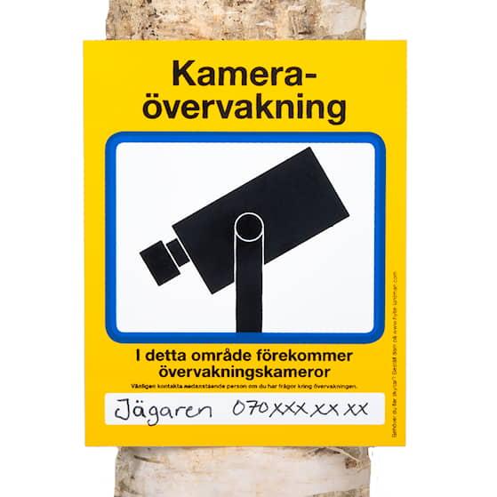 Skylt 'Kameraövervakning'