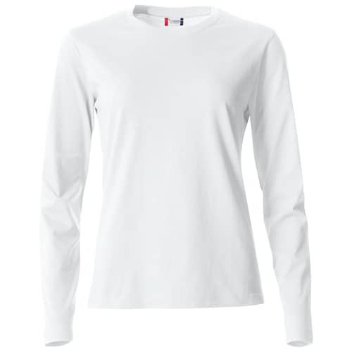 Clique Basic Naisten Pitkähihainen paita Valkoinen