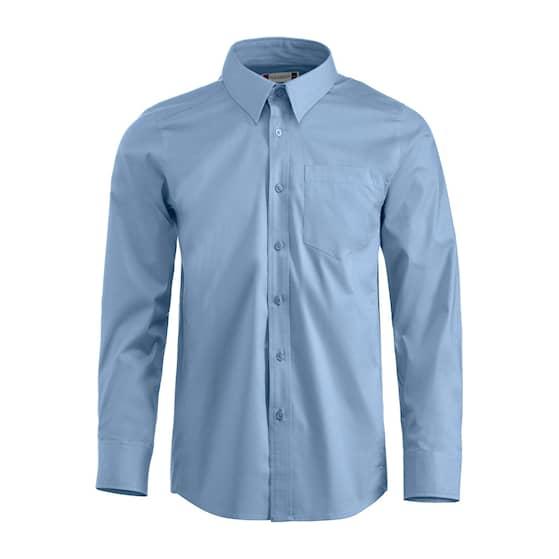 Clique Samson skjorta LS ljusblå