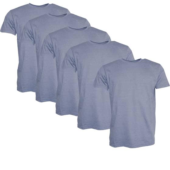 Clique T-shirt Herr 5-pack Mellanblå