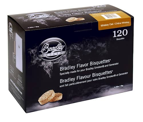 Bradley savustusbriketit Whiskey Oak 120 kpl