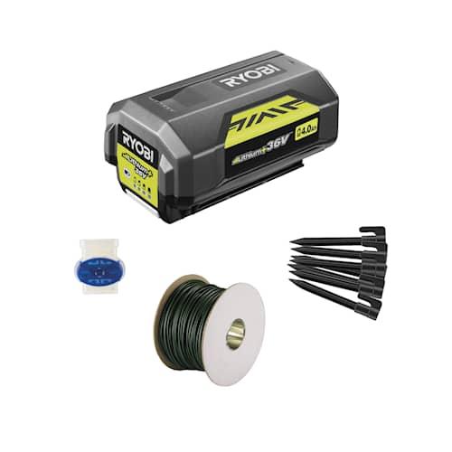 Ryobi RIK3000 Batteri och installationkit 3000m²