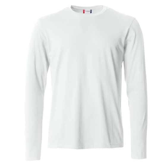 Clique Basic Miesten Pitkähihainen paita valkoinen
