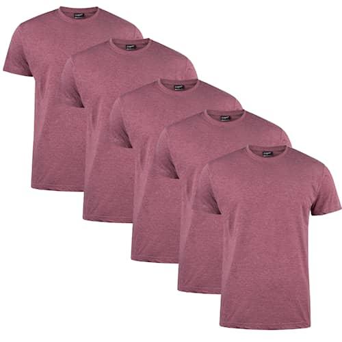 Clique T-shirt Herr 5-pack Bordeaux