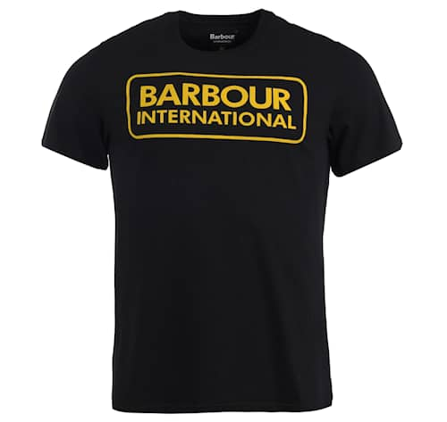 B.Intl Essential Large Logo Tee, Black/Yellow - Herr