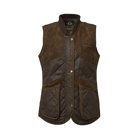 Chevalier Vintage Shooting Vest Leather Brown dam