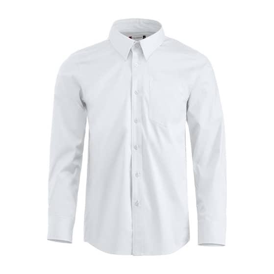 Clique Samson skjorta LS vit