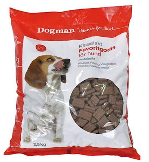 Dogman Favoritgodis namupalat koiralle 2,5 kg