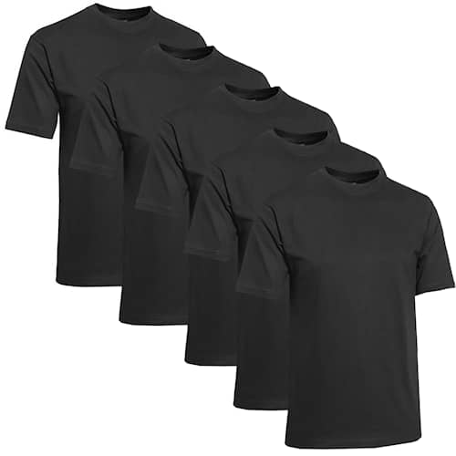 Clique Miesten T-paita 5-pack Musta