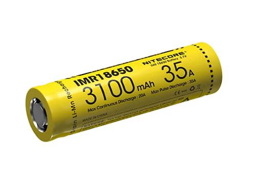 Nitecore Batteri 18650 3100 mAh imr