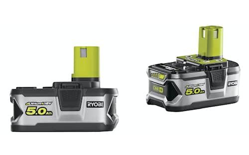 Ryobi RB18LL50 18v ONE+ 5,0Ah batterier 2-Pack