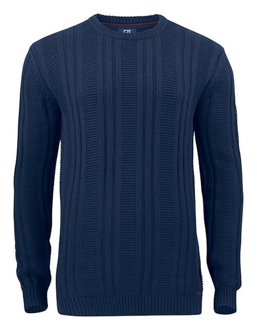 Cutter & Buck Elliot Bay Stickad tröja Marinblå Herr