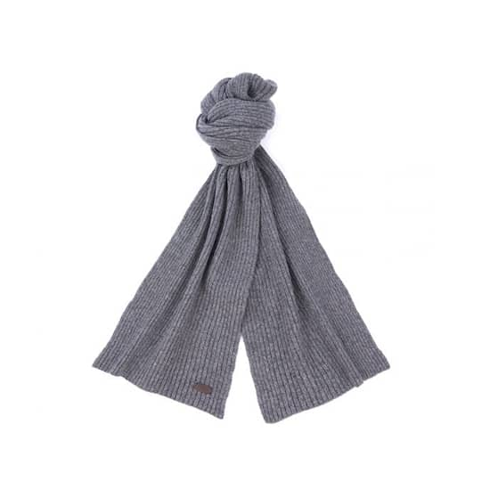 Barbour Carlton Wool Scarf, Grey