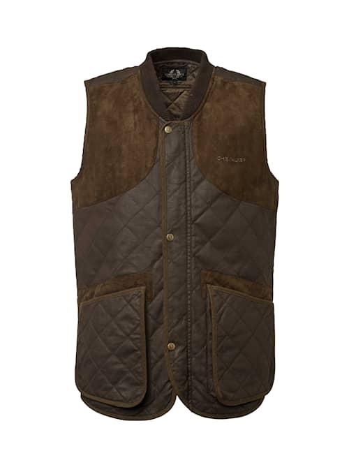 Chevalier Vintage Shooting Vest Leather Brown miehet