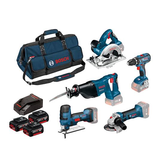 Bosch 18V GSR/Gst/GWS/Gks/GSA 3X4,0Ah Työkalupaketti