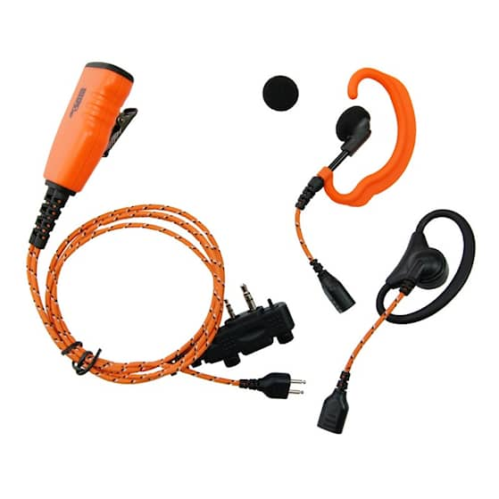 ProEquip PRO-U610LS/LA Orange tygkabel,3-i-1 med 2 öronbyglar/ Peltor