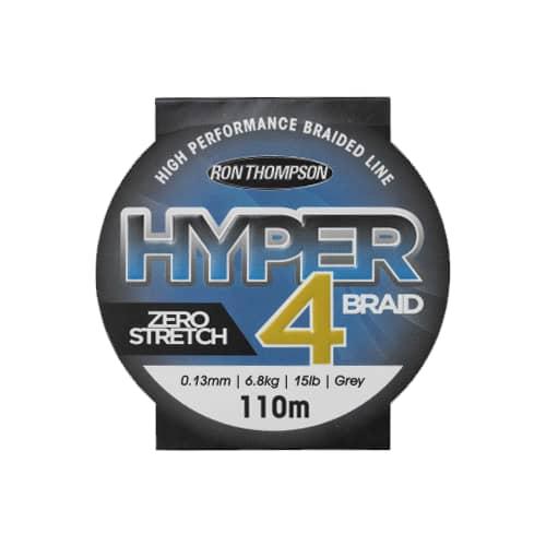 R.T. Hyper 4-Braid 110m 0,13 mm 6,8 kg Harmaa