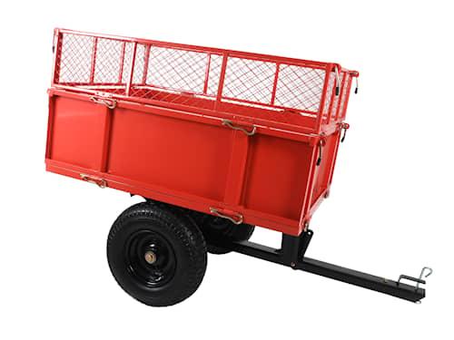 Vagn till trädgårdstraktor, med nätsidor