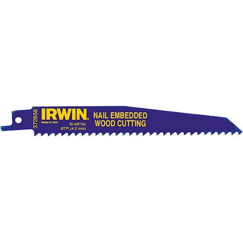Puukkosahanterä 156R Irwin 6TPI naulaiselle puulle 300 mm 5 kpl