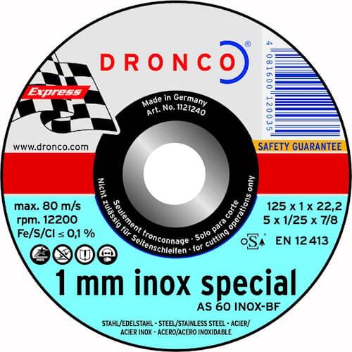 Dronco Katkaisulaikka SPEC AS60 T 22,23 MM INOX 1,0 X 125 MM