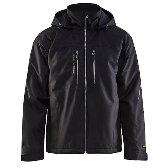 Kevyt, vuorattu tekninen takki, Musta / Harmaa
