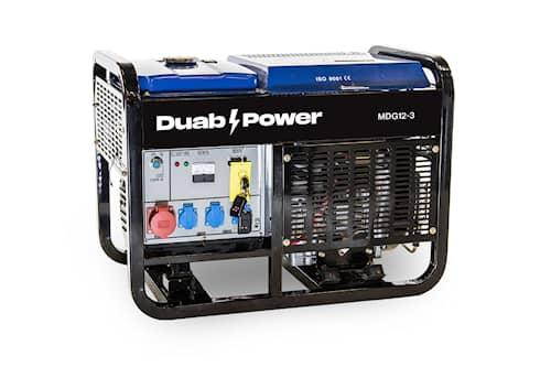 DUAB-POWER Elverk MDG12-3 3-fas diesel fjärrstart