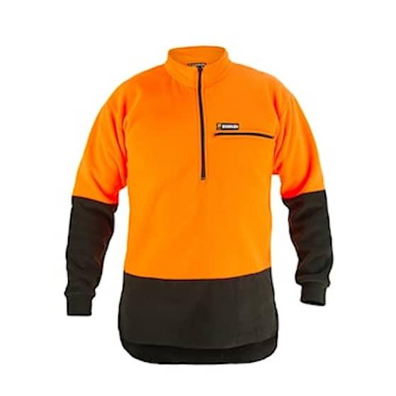 Swazi Hi-Vis Bush Shirt Blaze/Black