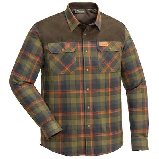 Pinewood Douglas skjorta Olive / Terracotta