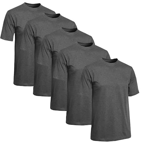 Clique T-shirt Herr 5-pack Mörkgrå