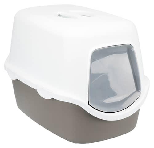 Kattlåda Diego Huv/filter/lucka Grå/cream 56*40*40cm
