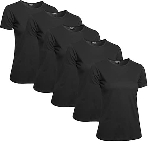 Clique T-paita Naiset, 5 kpl Musta