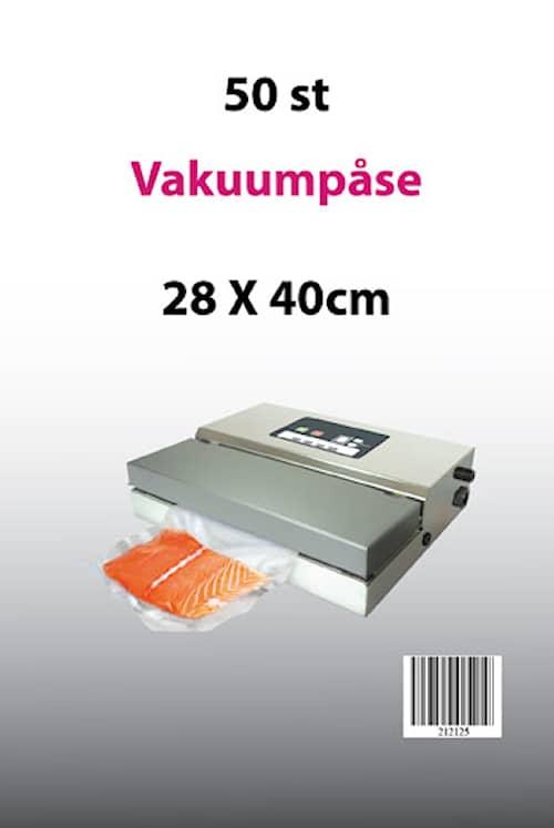 Vakuumpåsar till Vakuumförpackare 28x40 50-pack