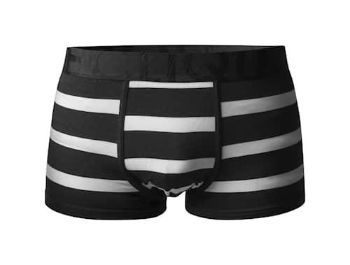 Bamboo Boxer Alushousut - Short Leg Valkoinen / Musta Leveä Resori S