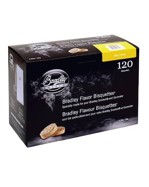 Bradley savustusbriketit Leppä 120 kpl
