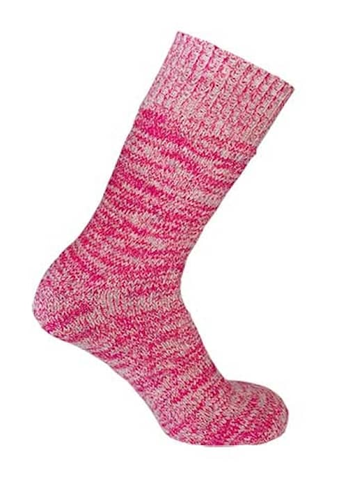 Eskimå-sukat Villaa Vaaleanpunainen