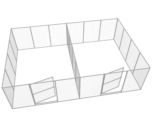 Komplett Hundgård Dubbel 2x17 m2