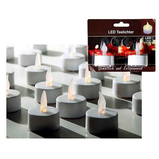 Led Teelichter Värmeljus 2-pack