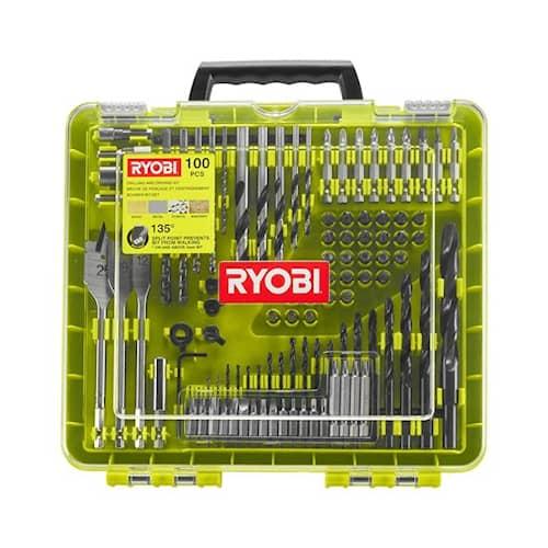 Ryobi Rakdd100 Borr & Bitssats 100 Delar
