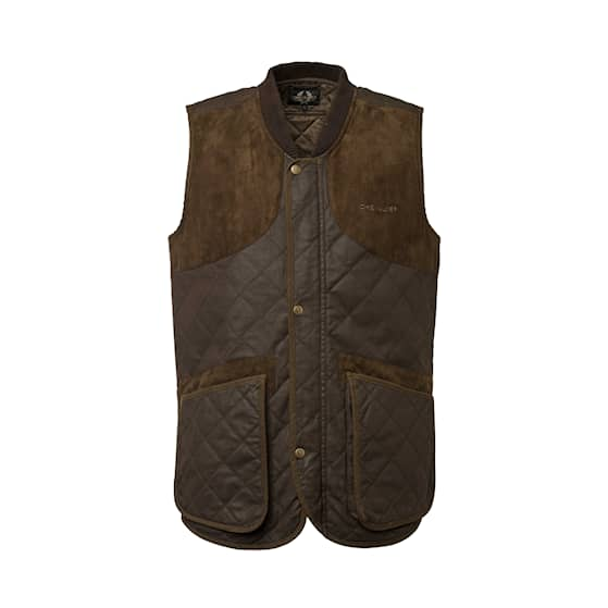 Chevalier Vintage Shooting Vest Leather Brown herr